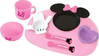 Disney Minnie Mouse Icon Baby Tableware set Dishes Cup set Japan F/S