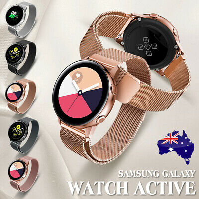 Samsung Galaxy Watch Active Milanese Magnetic Stainless Steel Replacement Band