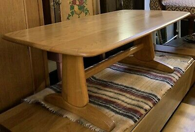 Ercol Windsor Light Blonde Finish Refectory Supper Table / Coffee Table
