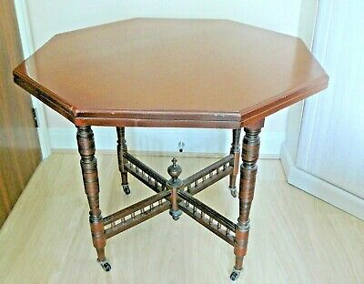 Victorian MAHOGANY Breakfast / Supper OCTAGONAL OCCASIONAL TABLE (96.5 cms)  Vgc