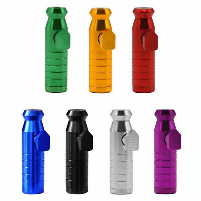 Metal Aluminum Snuff Dispenser Snorter Powder Bullet Boxes High Quality Special