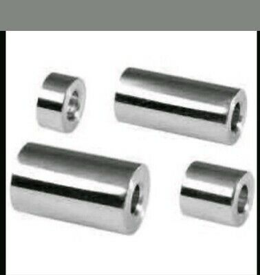 16MM OUTER DIAMETER STAINLESS STEEL SPACERS STANDOFF BUSH VARIOUS HOLE SIZES