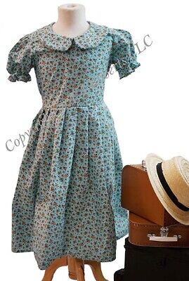 Railway Children-1940's-Wartime EDWARDIAN FLORAL PRINT DRESS Girls/Ladies Sizes