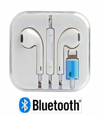 New Wired Bluetooth Earphones Headphones For IPhone X/8/7/7+X/XR/XS/XS Max White