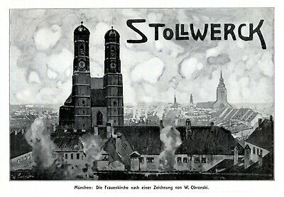 Advertising Stollwerck Chocolate German 1908 Ad Munich Frauenkirche Advertising Church Tower Wide Selection;