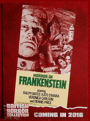 BRITISH H COLLECTION - DAVID PROWSE, Horror of Frankenstein - PREVIEW Card PR4