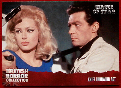 BRITISH HORROR COLLECTION - Circus of Fear - KNIFE THROWING ACT - Card #84