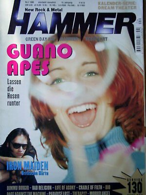 Metal Hammer 1998 Guano Apes Iron Maiden Dio Bad Religion Ratm Life Of Agony