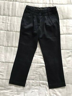 Girls Cyrillus Navy Blue Trousers Size 7 Years