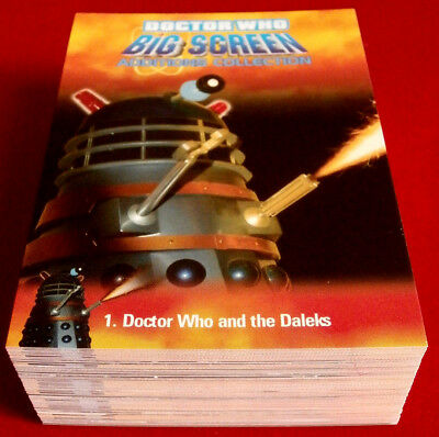 DR WHO & THE DALEKS - BIG SCREEN ADDITIONS - COMPLETE BASE SET (72 cards) - 2008