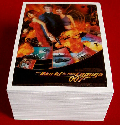 JAMES BOND,  The World Is Not Enough, COMPLETE 72 Card Base Set