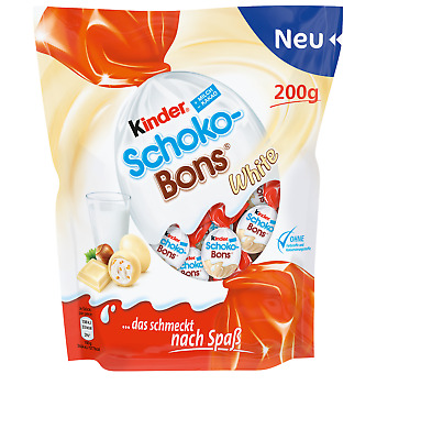 Ferrero Kinder Schoko Bons White 200g - LIMITED EDITION NEW from Germany