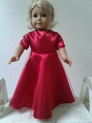 Doll Clothes Red Gown Dress For 18 Inch Doll Fits American Girl Dolls