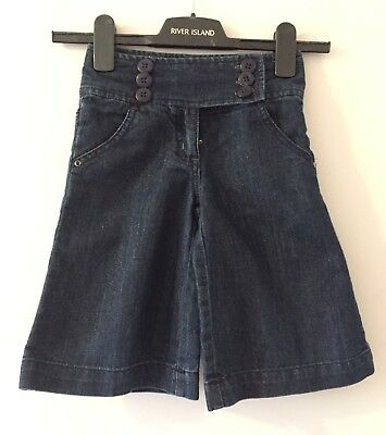 Next Girls Denim Glitter Long Shorts / Skort / Culottes Age 5 Yrs
