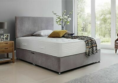 New Grey Cream Brown Divan Bed Base Storage Drawers Single Double King Headboard
