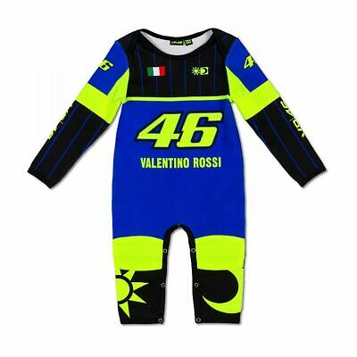Valentino Rossi VR46 Moto GP Blue Yamaha Baby Grow Overall Suit Official 2020