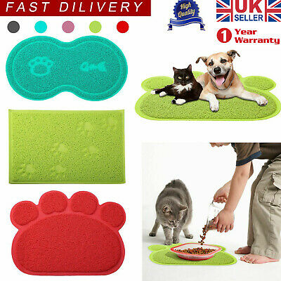 Pet Dog Puppy Cat Feeding Mat Pad Cute PVC Bed Dish Bowl Food Feed Placement