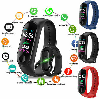 Smart Band Watch Bracelet Wristband Fitness Trac Blood Pressure HeartRate M3
