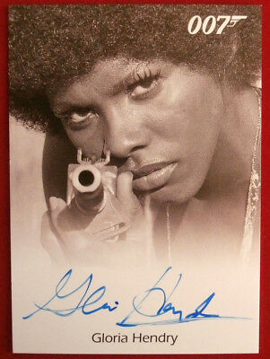 JAMES BOND - Live and Let Die - GLORIA HENDRY as Rosie Carver  - Autograph Card