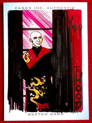 THUNDERBIRDS - COLOUR Sketch Card - THE HOOD by JOHN CZOP - Cards Inc 2004