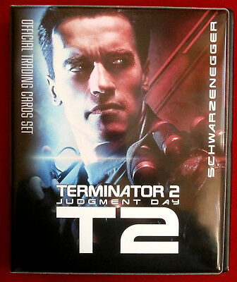 TERMINATOR 2 - JUDGMENT DAY - T2 - Official Trading Card Binder + BASE SET