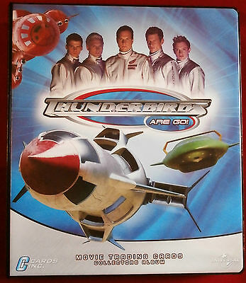 THUNDERBIRDS - OFFICIAL RING BINDER + 72 CARD BASE SET by Cards Inc 2004