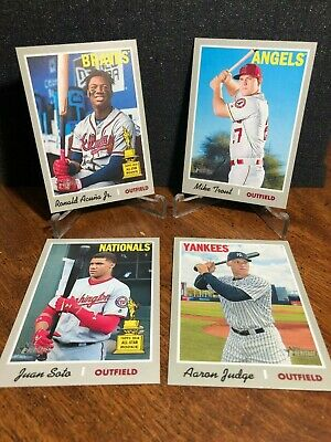 2019 Topps Heritage SHORT PRINT u YOU PICK Singles FINISH SET Acuna & Trout sp