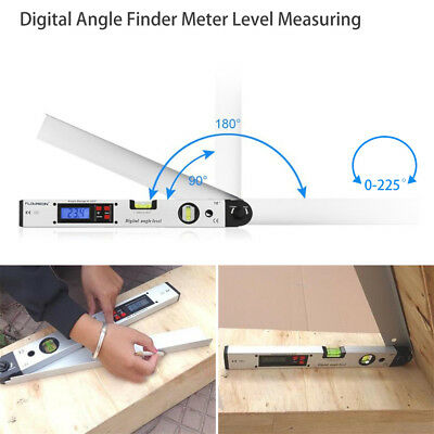 0~225° LCD Digital Inclinometer Protractor Spirit Level Angle Finder Gauge Meter