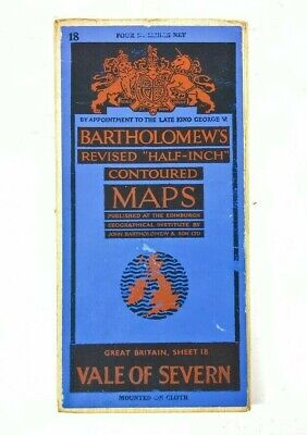 Bartholomews Contoured Map Vale Of Severn Sheet 18 (On Cloth)