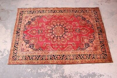 "Vintage Hand-Woven Persian Rug - 6'3"" X 9'4"""