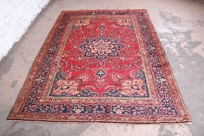 "Vintage Hand-Woven Persian Rug - 6'6"" X 9'1"""