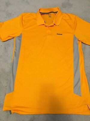 Mens Reebok Play Dry Polyester Short Sleeve Golf Athletic Polo Shirt Sz Large
