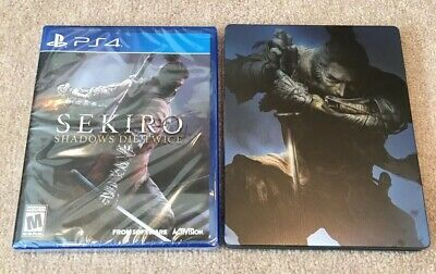 SEKIRO Shadows Die Twice PS4 Brand New Sealed with Amazon Exclusive Steelbook
