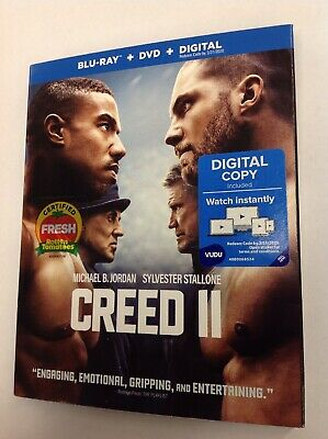 CREED II (Blu-ray+DVD, 2019) W/Slipcover NO Digital **LIKE NEW** Free Shipping!