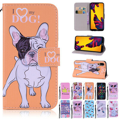 For Huawei P30 Pro P Smart 2019 Cute Leather Flip Wallet Shockproof Case Cover