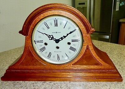 "*****beautiful ""HOWARD MILLER"" Key-wound WESTMINSTER Chime Mantel CLOCK**"