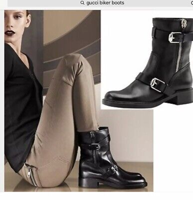 ce6162f2ac7 GUCCI BLACK LEATHER Boots Sz   US 10  EU 40 -  650.00