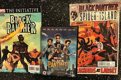 2018 Dvd Film Movie + 2 Old (2007 & 2011) Comics Marvel Studios Black Panther