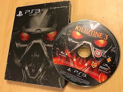 Sony Ps3 Playstation 3 Game Killzone 3 Steelbook Collector's Edition Pal