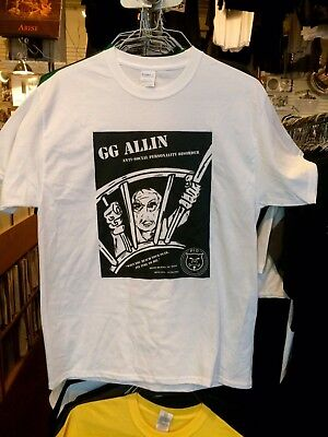 G.G. ALLIN - Anti-Social Personality Disorder T-shirt Size X-Large XL Official *