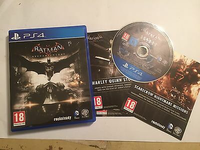 Playstation 4 Ps4 Game Batman Arkham Knight Complete Disc Mint Condition