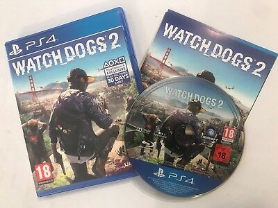 Playstation 4 Ps4 Game Watch Dogs 2 / Watchdogs Ii Complete Disc Mint Condition