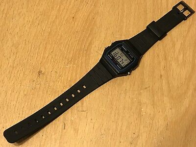 CASIO RETRO CLASSIC BLACK DIGITAL WATCH MODEL  F-91W 593 alarm stopwatch backlit