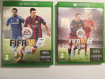 2 Xbox One Xb1 Games Fifa 15 2015 +16 2016 Complete Disc's Are V. Good Condition