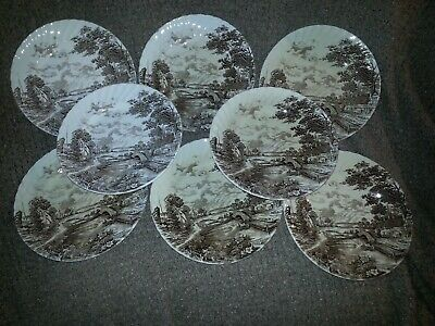 RIDGWAY STAFFORDSHIRE-England-COUNTRY DAYS-Plates,Cups,Saucers,Bowls,Bread