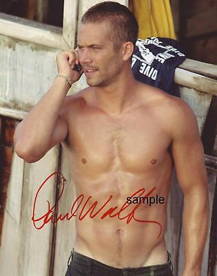 Paul Walker #1 Reprint 8X10 Autographed Signed Photo Fast Furious Man Cave Gift