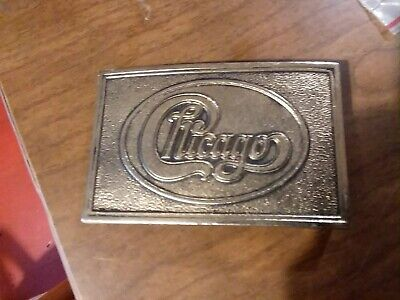 Rare Collectible Vintage Music Rock Group Chicago Belt Buckle