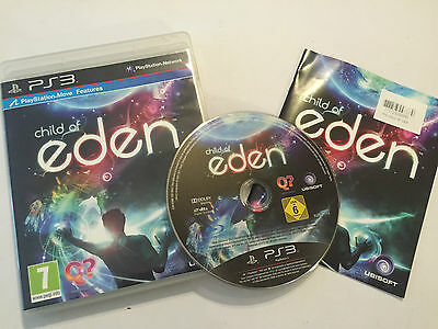 Pal Playstation 3 Ps3 Game Child Of Eden +Box & Instructions / Complete Pal