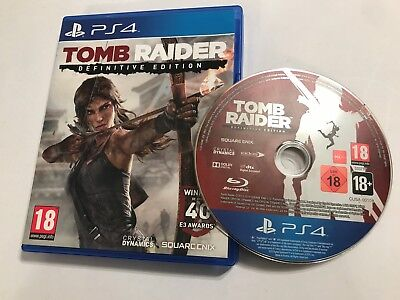 Playstation 4 Ps4 Game Tomb Raider Definitive Edition Complete Disc Mint
