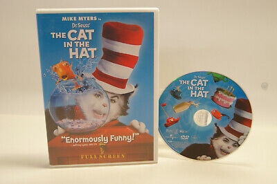 Dr. Seuss' The Cat in the Hat Mike Myers Fullscreen DVD Movie NTSC 1 2004 (PG)